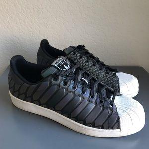 adidas black holographic shoes